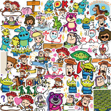10/50Pcs Disney Toy Story Stickers Funny Kid Waterproof guitar Skateboard Luggage Snowboard Bicycle Laptop Graffiti Stikers Toy(China)