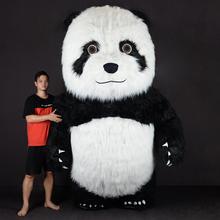 Panda nadmuchiwany kostium maskotka fantazyjne na karnawałowe stroje imprezowe kostium na Halloween boże narodzenie Disfraz Giant tanie tanio CN (pochodzenie) Zwierzęta i Natura Dorośli 151 cm-199 cm