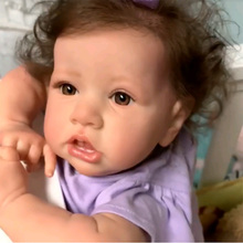 55cm Reborn Baby Dolls full Silicone body  Newborn Babies DOLL Realistic lifelike Toddler Bonecas with Crooked mouth dolls toy цена 2017