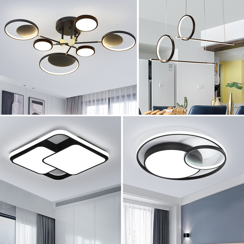 LED Ceiling Light Modern Lamp Living Room Lighting Fixture Bedroom Kitchen Surface Mount Flush Panel Remote Control