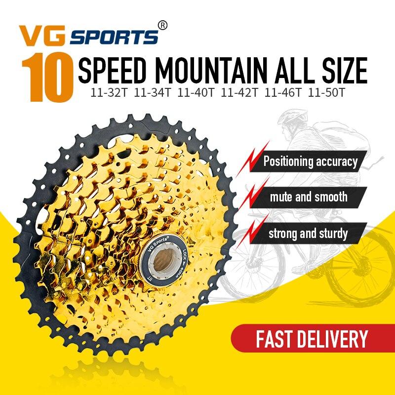 10 Speed 11-40T//42T//46T//50T Freewheel Flywheel for MTB Cassette Mountain Bicycle