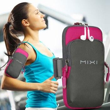 Mixi Arm Bag Women Armband Men Sport Jogging Gym Mobile Phone Holder Waterproof Nylon M2076 - discount item  30% OFF Travel Accessories