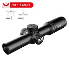 Red Win Torero CQB HD 1-6x24 30mm Monotube 1/5Mil Turret Adjust Glass Etched Mil Dot w/ Zero Lock Quick Aquicision LPVO Scope
