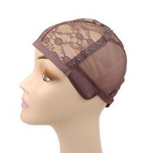 10 шт чёрный; коричневый парик шнурка Кепки для изготовления