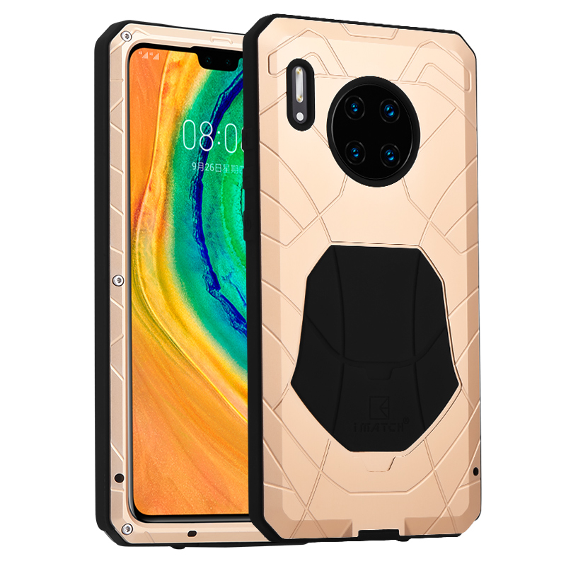 Daily Waterproof Case For Huawei Mate 30 Pro 5G Luxury Metal Silicone Cover Protection Cover Huawei Mate 30/Pro 5G Cases Coque
