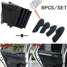 8pcs/Set new Black Car Door Panel Armrest Cover Surface Shell Trim Anti-Scratch Decorative Accessories For Honda Civic 2016-2018 цены онлайн