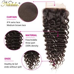 Image 2 - Nadulaบราซิลคลื่นลึก 10 20 นิ้วRemy Hair 4*4 ฟรีPartสวิสลูกไม้ปิดจัดส่งฟรี