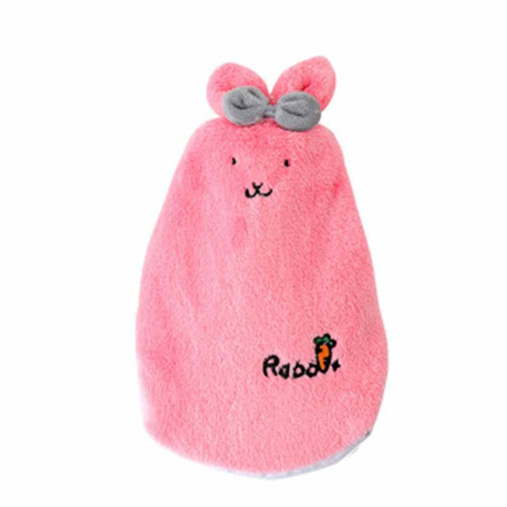 Cute Cartoon Rabbit Hand Warmer Washable Hot Water Bottle Cute Plush Warm Water Bag Water Injection Hand Po Electric