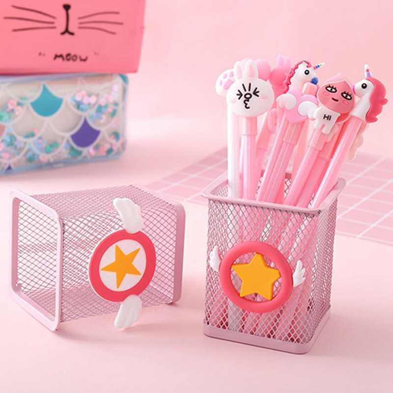 1 Pc Kawaii Roze Eenhoorn Cactus Flamingo Vierkante Briefpapier Opbergdoos Beheren Case Pen Potlood Holder Stand Student Briefpapier