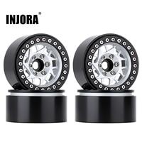 """INJORA 4PCS 1.9"""" Metal Beadlock Wheel Hub Rim for 1/10 RC Crawler Car Traxxas TRX4 Axial SCX10 90046 AXI03007 RedCat Gen8 1"""