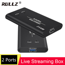 4K 1080P 60 HDMI to USB 3.0 Video Capture Box For PS4 Wii Xbox Phone TV STB Game Recording Conference Computer PC Live Streaming