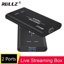 4k 1080p 60 hdmi para usb 3.0 caixa de captura de vídeo para ps4 wii xbox telefone tv stb jogo de gravação conferência computador ao vivo streaming
