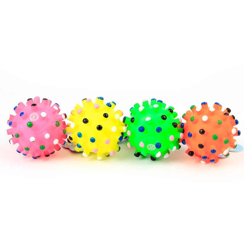 6.5 centímetros Durable Squeaky Pet Bola Brinquedos Do Cão Produtos do animal de Estimação Fontes Do Cão Animais De Estimação Cães Brinquedos Bolas Brinquedo Sibilante Quack