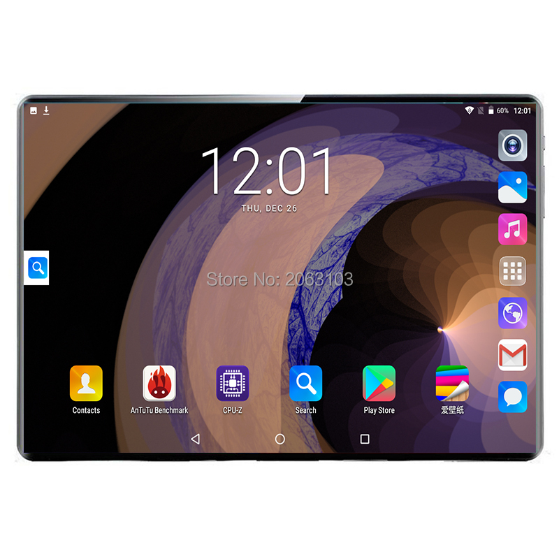 10.1 Inch Tablet 2.5D Tempered Glass 3G/4G Phone Call Android 9.0 Deca Core RAM 8GB/128GB ROM Dual SIM Wi-Fi Bluetooth Tablet PC