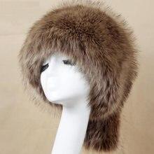 Ht3449 зимняя шапка Женская Толстая теплая из искусственного