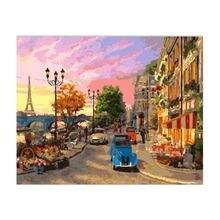Тихая городская стена холст diy Рисование по номерам картина