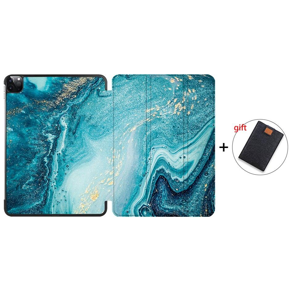 IP06 Black MTT Case For iPad Pro 12 9 inch 4th Gen 2020 PU Leather Flip Stand Smart
