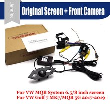 Car Front View camera System CANBUS Connect Original Factory Screen Monitor For Volkswagen VW Golf 7 MK7/MQB 5G AUTO CAM Decoder