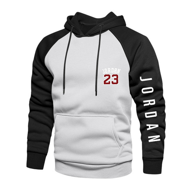 2021 New Spring Men's Loose Hoodie Long Sleeve Sweater Pullover Men's Raglan Sleeve Color Block Pocket 4xl Thick Warm Jacket 6