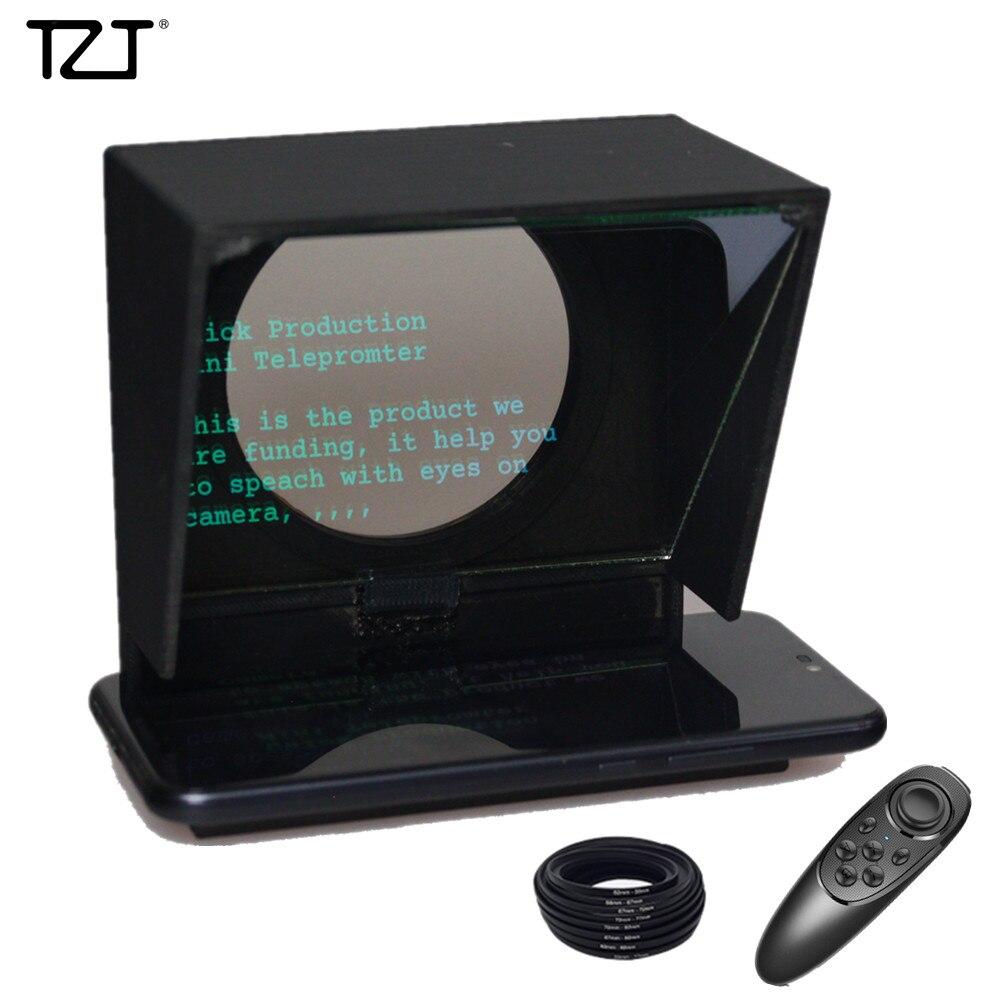 TZT Mini téléprompteur Portable inscripteur Mobile téléprompteur vidéo d'artefact avec télécommande