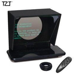 Tzt Mini Teleprompter Portable Inscribed Ponsel Teleprompter Artefak Video dengan Remote Control