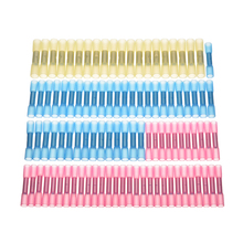 цена на 100pcs Waterproof Solder Sleeve Heat Shrink Sordering Terminals Electrical Wire Insulated Butt Wire Connectors Set