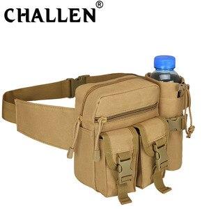 Мужская/женская сумка для путешествий в стиле милитари, спортивная сумка для камеры, держатель для бутылки с водой, водонепроницаемая поясн...
