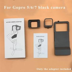 Image 5 - כף יד Gimbal מתאם מתג הר לdji אוסמו נייד 3/4 כדי GoPro גיבור 7 6 5 שחור פעולה מצלמה מתג צלחת מתאם Vlog