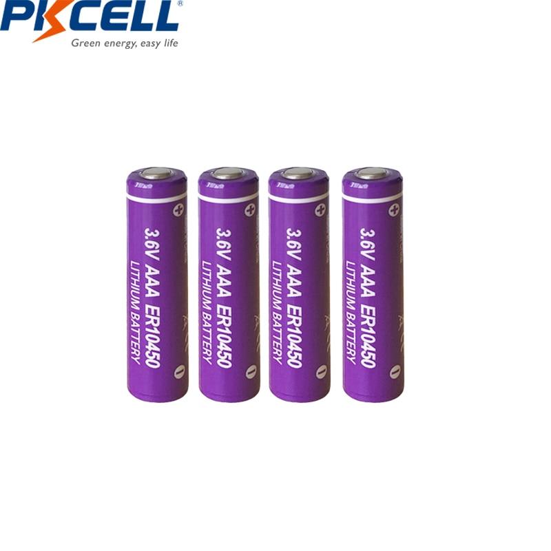 4Pcs 3.6V Battery ER10450 10450 700mah Li-SCLO2 batteries AAA Batteria Superior R03P LR03 for Utility meter/GPS Alarm/security