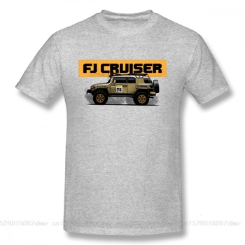 Una yona 2019 nueva llegada FJ Cruiser Camiseta Hombre novedad Land Cruiser coche Homme Camiseta Toyota carretera Camiseta