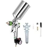 2.5Mm HVLP 중력 피드 스프레이 도구 키트 (조절기 포함) 자동 페인트 금속 플레이크