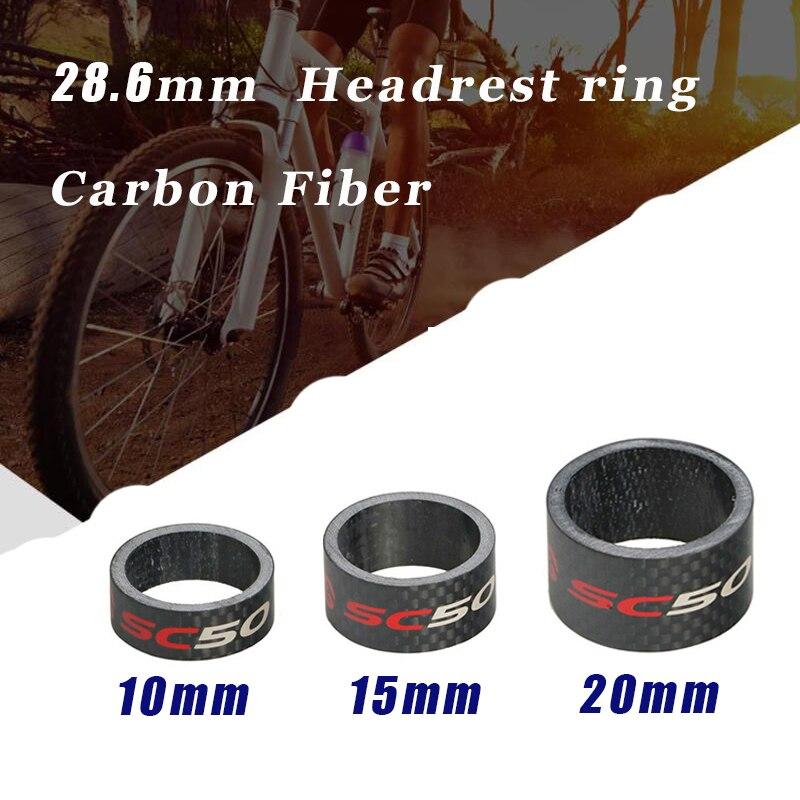 "5pcs//1set 1-1//8/"" Carbon Headset Stem Spacer 30-10-5-3-2mm"