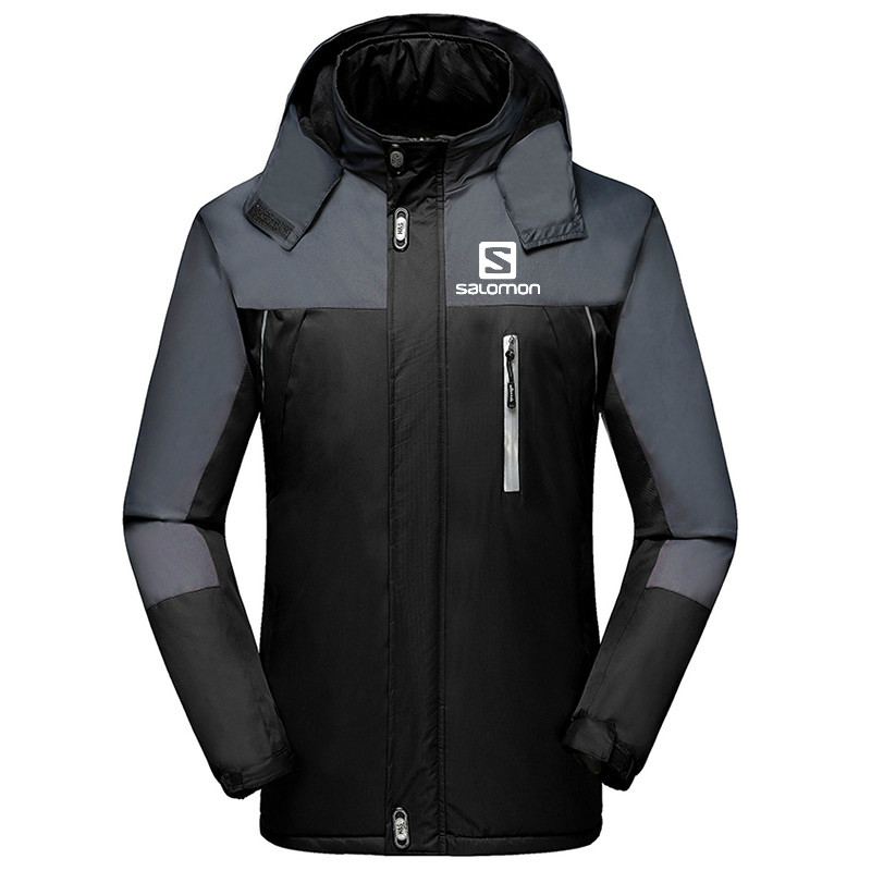 2019 Men's Jackets Waterproof Spring Salomon Printed Hooded Coats Men Women Outerwear Salomon Solid Casual Brand Male Clothing