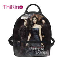 лучшая цена Thikin The Vampire Diaries Backpack for Girls Lady Mochila Mini Leather Schoolbag Student Preppy Style Travel Bag Girl Satchel