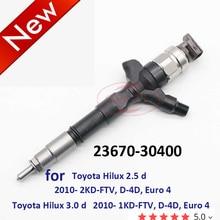 Orltl 2367030400 Echt Nieuwe Common Rail Injector 23670 30400 Voor Toyota Hilux 2.5 /3.0d 2010  2KD 1KD ft Euro 4