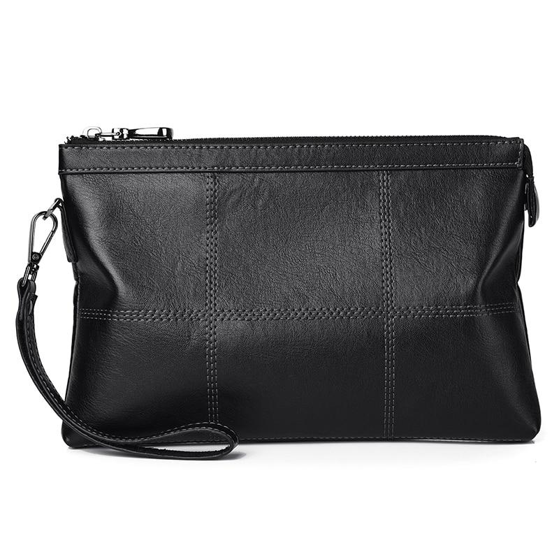 Kangaroo Brand Business Men Wallet Leather Man Clutch Bag Coins Pocket Purse For Men Black Large Envelope Wallets Male Handy Bag