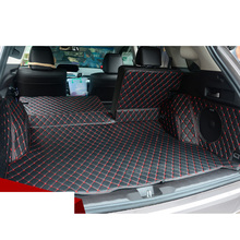 Lsrtw2017 Car Trunk Mat Cargo Mat Cargo Liner for Acura Rdx 2013 2014 2015 2016 2017 2018 5d Rug Carpet 2nd Generation custom fit luxury pu leather car trunk mat cargo mat for toyota venza 2008 2017 5d cargo liner