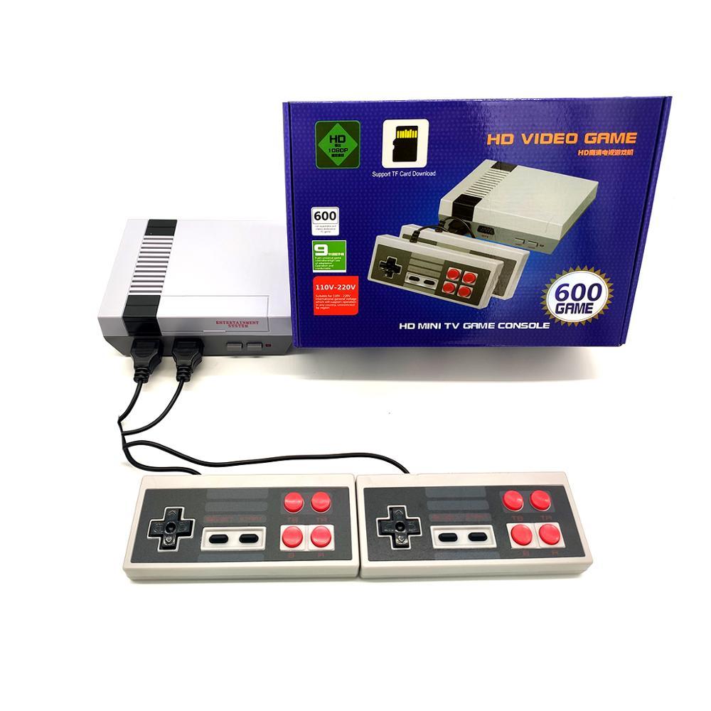 Mini 8-bit classic retro game 600TF card game built-in 600 game home video game console hd video game console