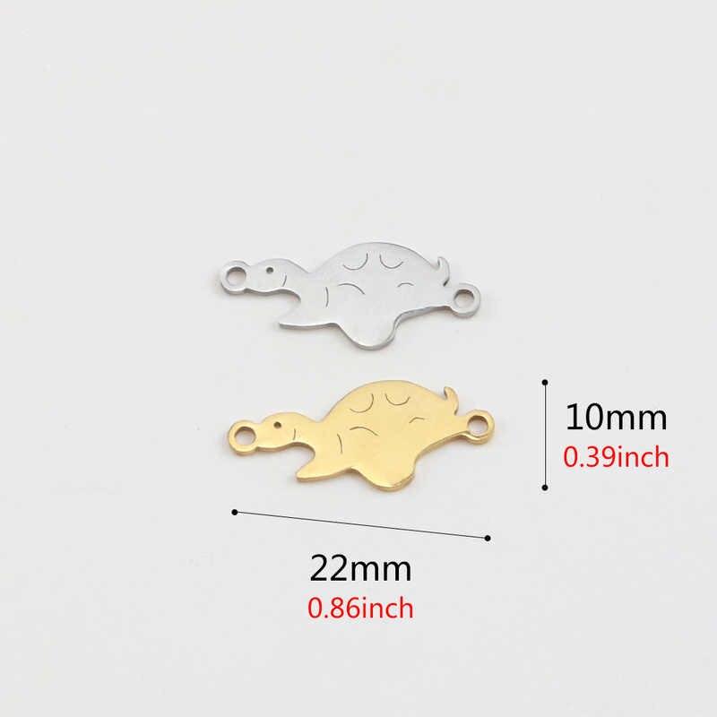 Aiovlo 5 قطعة/الوحدة الفولاذ المقاوم للصدأ الذهب السلحفاة سحر موصل DIY بها بنفسك صنع المجوهرات سوار الحرف اكسسوارات النتائج