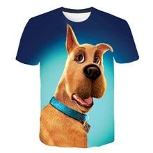 New Anime Scooby Doo T-shirt Animal Short Sleeve Cartoon T-shirt For Boys 3D Print Tops xxx for Kids Hip Hop Unisex Clothing