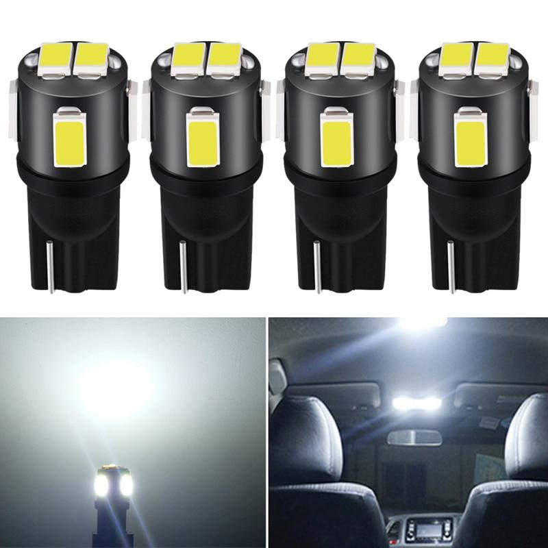 4x T10 W5W Led Bulb 194 168 Car Interior Light For SEAT Leon 1 2 3 MK3 FR Cordoba Ibiza Arosa Alhambra Altea Exeo Toledo
