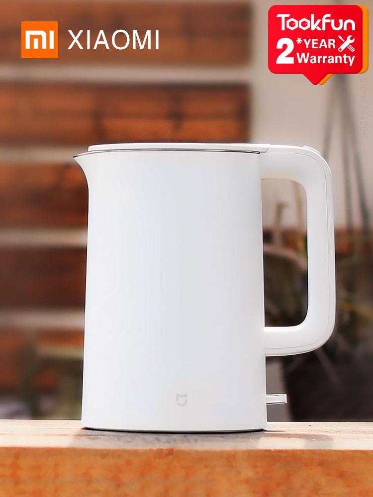 Электрический чайник XIAOMI MIJIA, нержавеющая сталь, быстрое закипание, самовар, изоляция, 1,5 л, 2020