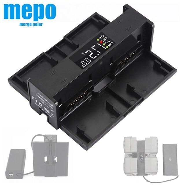 4 in 1 Mavic 2 Batteria Hub di Ricarica per DJI Mavic 2 Pro Caricatore Mavic 2 Zoom Adattatore Drone Digitale display A LED di Ricarica