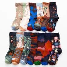 Femmes longue chaussette dessin animé imprimer mode créative personnalisé nouveauté hommes femmes chaussettes hiver chaud confortable coton chaussettes