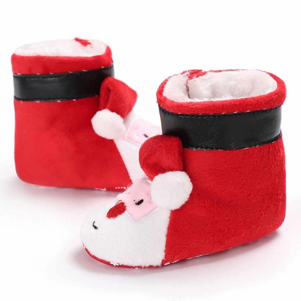 Kerstmis peuter Pasgeboren Baby Laarzen Meisjes Jongen Flock Winter Warm Sneeuw Firstwalk Baby Winter Schoenen Pasgeboren Laarzen Botas Bebe Nina