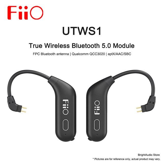 Fiio UTWS1 صحيح سماعة لاسلكية تعمل بالبلوتوث وحدة انفصال سماعة الأذن 0.78 مللي متر سماعة aptX/AAC/SBC MIC مقاوم للماء