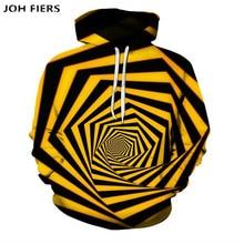 цена на Color vertigo hypnosis 3D printing hoodies HD print hoodie autumn hoodie casual sweatshirt Unisex Harajuku street loose Coat