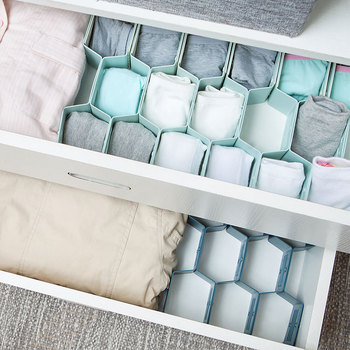 12 Compartment Clothes Drawer Organizer and Clothes Storage Boxes for Socks and Underwear