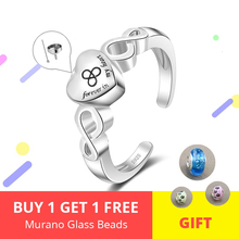 New 925 Sterling silver Forever in my heart cremation urn open size adjustable Finger rings for Women memorial Jewelry