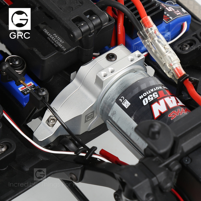 Фото grc integrated motor base metal gear cover for 1 / 10 rc tracked